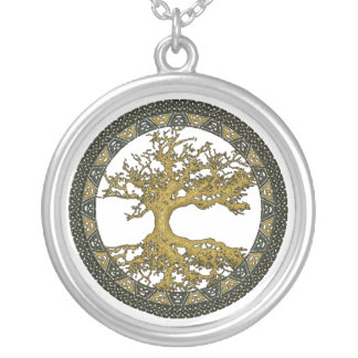 Ancient Tree of Life Silver Plated Necklace