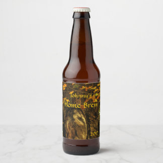 Ancient Tree with Autumn Foliage Beer Label