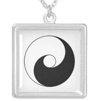 Ancient version of Taijitu by Lai Zhi-De Yin Yang Silver Plated Necklace
