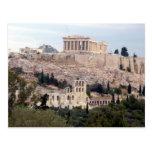 ancient view acropolis postcards