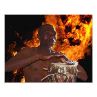 Ancient Warrior Drumbeats Custom Invites