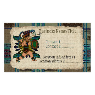 Ancient Warrior Native American Pack Of Standard Business Cards