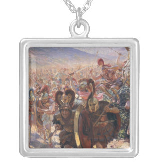 Ancient Warriors Silver Plated Necklace