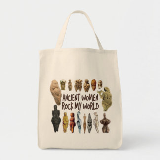 Ancient Women Rock My World Grocery Tote