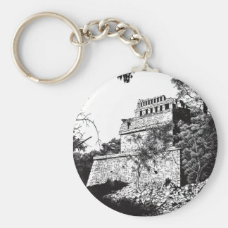 ancient wonder basic round button key ring
