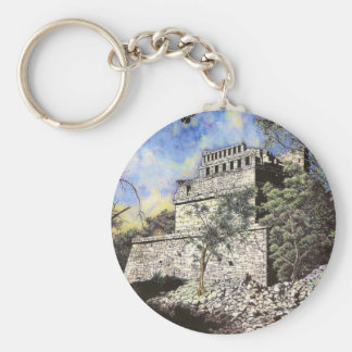Ancient Wonder (colored) Basic Round Button Key Ring