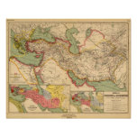 Ancient world empires of the Persians,Macedonians Posters