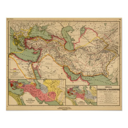 Ancient world empires of the Persians,Macedonians Poster