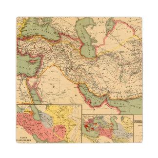 Ancient world empires of the Persians,Macedonians Wood Coaster