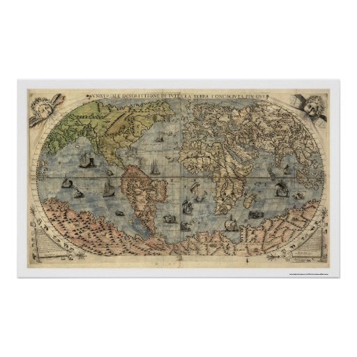 Ancient World Forlani Map By Paolo Forlani 1565