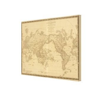 Ancient World Map Canvas Print