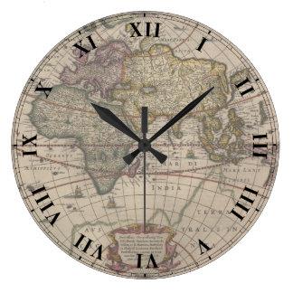 Ancient World Map Clock