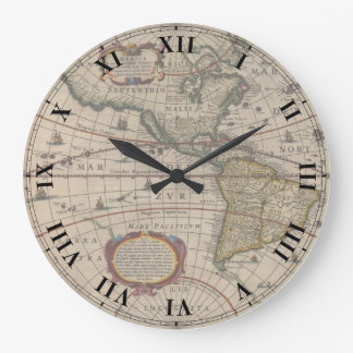 Ancient World Map Clock