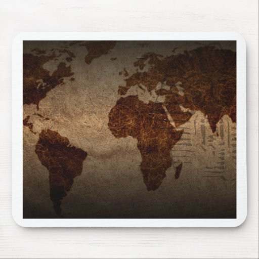 Ancient world map cool mouse pad