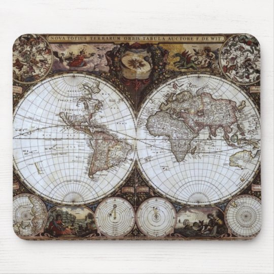 Ancient World Map Mouse Mat