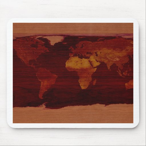 Ancient world map mouse pads