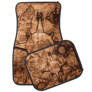 Ancient World Traveler - Map & Compass Rose Car Mat