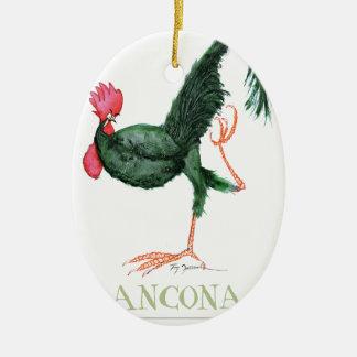 Ancona Hen, tony fernandes Ceramic Oval Decoration