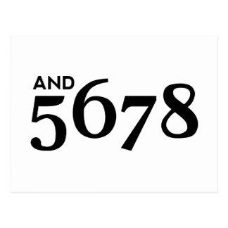 And 5678 postcard