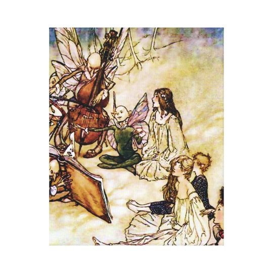 And a Fairy Song by Arthur Rackham Canvas