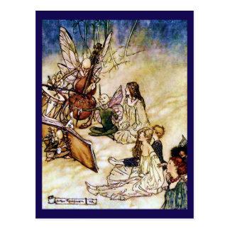 And a Fairy Song by Arthur Rackham Postcard