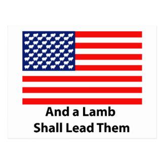 And A Lamb Shall Lead Them Postcard