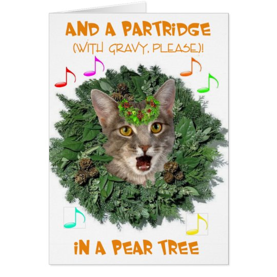 And a Partridge (with Gravy, Please)! Card