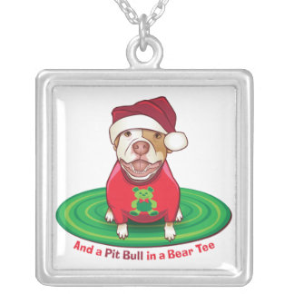And a Pit Bull in a Bear Tee Silver Plated Necklace