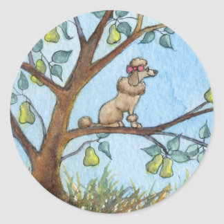 ...And a poo-oodle in a pear tree... Stickers