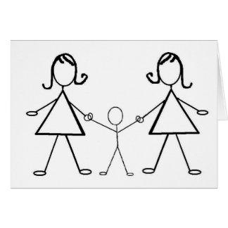 And baby makes three! greeting card