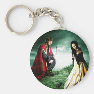 AND CHIVALRY WON HER HEART.jpg Basic Round Button Key Ring