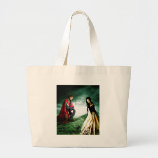 AND CHIVALRY WON HER HEART.jpg Jumbo Tote Bag