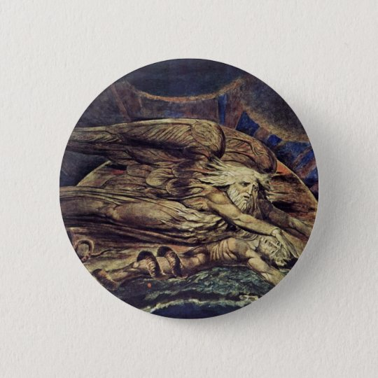 And Elohim Created Adam By William Blake 6 Cm Round Badge