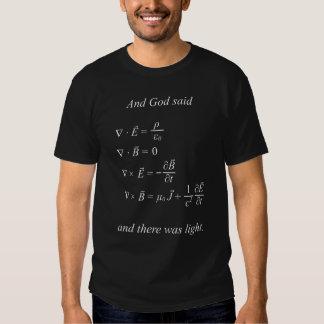 And God said [maxwell's equations] (black) T-shirt