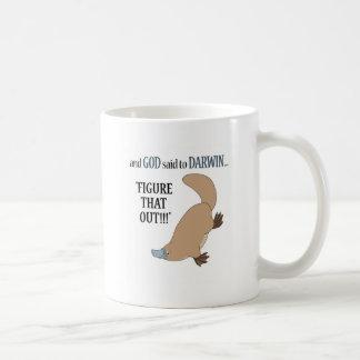And God said to Darwin.... Basic White Mug