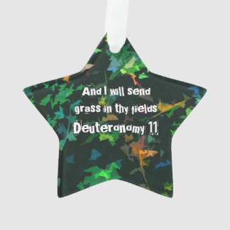 And I will send grass in thy fields Ornament