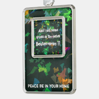 And I will send grass in thy fields Silver Plated Framed Ornament
