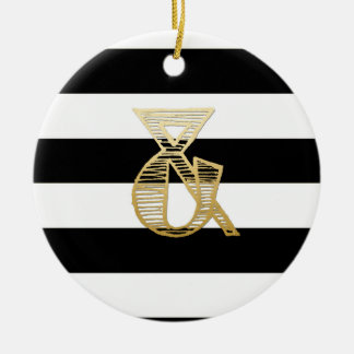 """And"" initial circle ornament"