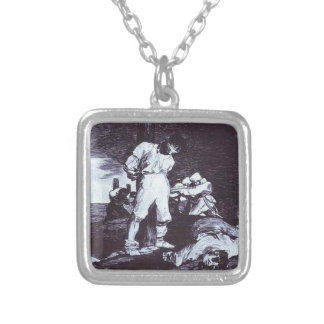 And It Cannot Be Changed by Francisco Goya Square Pendant Necklace