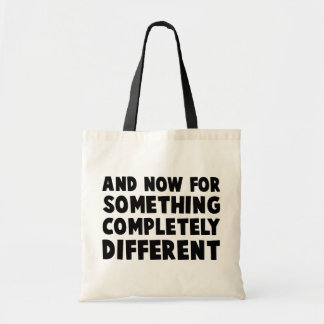 And Now Something Budget Tote Bag
