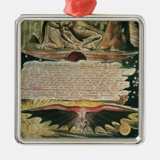 """""""And One stood forth"""" Silver-Colored Square Decoration"""