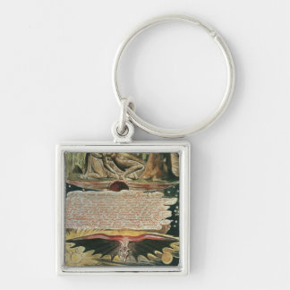 """""""And One stood forth"""" Silver-Colored Square Key Ring"""