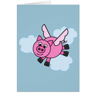And Pigs Might Fly! Greeting Card