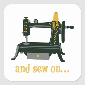 And Sew On... Sticker