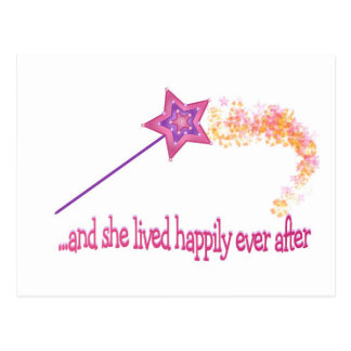 And She Lived Happily Ever After Postcard