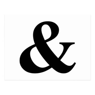 & And Sign Ampersand Logogram Symbol Icon Shortcut Postcard