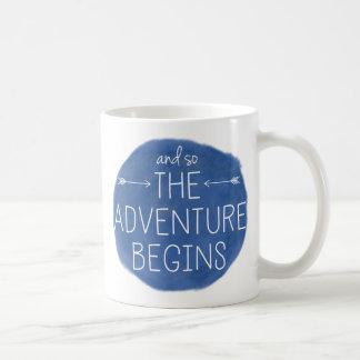And So The Adventure Begins Basic White Mug
