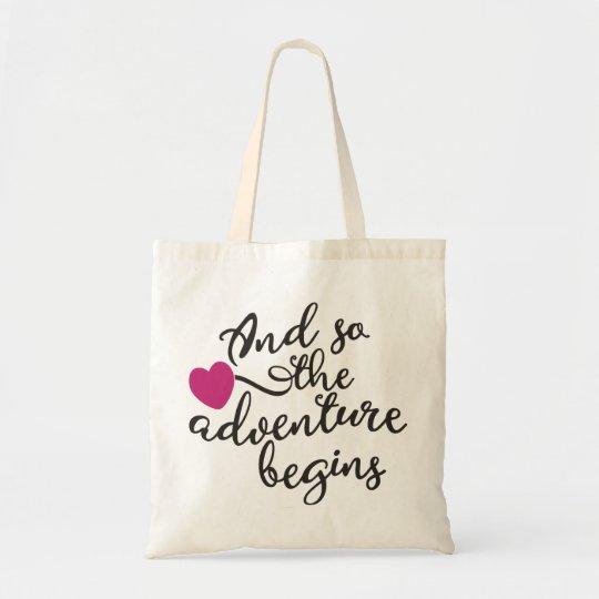 And So the Adventure Begins Decorative Tote Bag