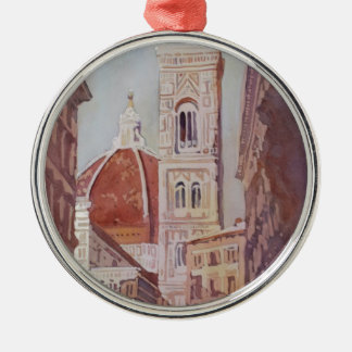 And Suddenly, The Duomo Silver-Colored Round Decoration