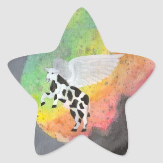 ... and the cow jumps over the moon star sticker